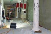 Diese Woche begann der Umbau im Nordflügel des Hotels Bellevue-Terminus in Engelberg. (Bild: PD)