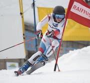 Andreas Schuler (Spiringen) auf dem Brüsti unterwegs zum Tagessieg. (Bild: Urs Hanhart (Brüsti, 3. Februar 2018))