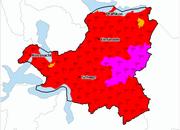 Die aktuelle Gefahrenkarte für den Kanton Schwyz. (Bild: meteocentrale.ch)