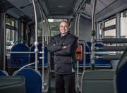 Stefan Studer ist seit 30 Jahren Chauffeur bei den Verkehrsbetrieben Luzern. (Bild: Pius Amrein (Luzern, 20. Dezember))