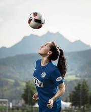 Géraldine Reuteler weiss mit dem Ball umzugehen. (Bild: Pius Amrein (Luzern, 30. August 2017))