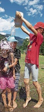 Die Kinder waren für jeden Spass zu haben. (Bild: PD)