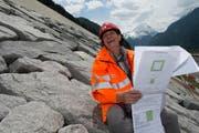 Oberbauleiterin und Ingenieurin Therese Scheidegger. (Bild: Nadia Schärli / Neue LZ)