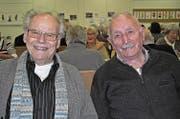 Franz Nussbaumer (links) und Werner Amstutz. (Bild: Birgit Scheidegger (Ennetmoos, 29. November 2017))