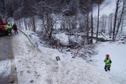 Die Unfallstelle in Davos. (Bild: Kapo Graubünden)