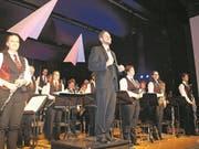 Die Musikgesellschaft Ennetbürgen unter der Leitung von Michael Schönbächler entführte an ihrem Jahreskonzert zu ganz neuen Horizonten.Bild: Kurt Liembd (Ennetbürgen, 18. März 2018) (Bild: Kurt Liembd (Ennetbürgen, 17. März 2018))
