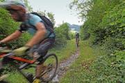 Die schmalen, steilen und steinigen Pfade verlangten von den Bikern viel technisches Können ab. (Bild: Sven Aregger)