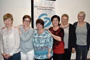 Der Vorstand von Insieme Uri, von links Helen Gisler, Sara Fedier, Irene Tresch, Präsidentin Anita Epp, Trudi Rothenbühler und Monika Hasler. (Bild: Georg Epp (Schattdorf, 30. März 2017))