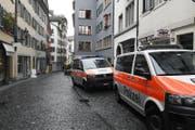 Ein Uhrenatelier am Rindermarkt in der Zürcher Innenstadt ist am Mittwoch überfallen worden.. (Bild: Keystone / Walter Bieri)