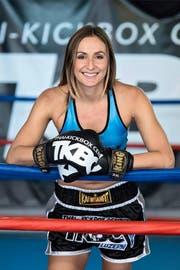 Isabell Grossmann gestern im Thai-Kickbox-Center in Horw.Bild: Pius Amrein