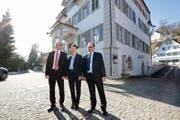 Sie wurden am Sonntag gewählt: Christoph Amstad (CVP), Maya Büchi-Kaiser (FDP) und Josef Hess (parteilos). (Bild: Roger Zbinden (Sarnen, 4. März 2018))