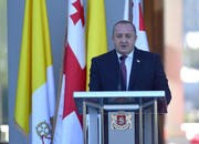 Der Präsident von Georgien, Giorgi Margvelashvili, verurteilte den versuchten Anschlag scharf. (Bild: EPA/LUCA ZENNARO)