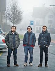 Hinterwonderland mit Arno Troxler (Drums), Peter Estermann (Piano) und Simon Kaufmann (Bass) (von links). (Bild: PD)