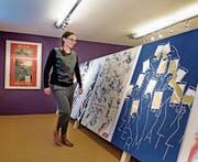 Die Ausstellung Reklamekunst und Reiseträume im Talmuseum Engelberg. Im Bild Kuratorin Nicole Eller Risi. (Bild: Corinne Glanzmann (Engelberg, 5. Dezember 2017))