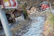 Das Wasser des Alpbachs – hier am Unterlauf beim Talweg – soll für die Energiegewinnung genutzt werden. (Bild: Urs Hanhart (Erstfeld, 31. Januar 2018))