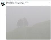 Gleichzeitig fotografierte Mönch Martin Werlen aus dem Kloster. (Bild: Twitter)