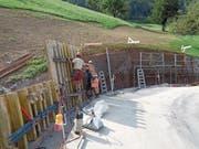 Die Sanierungsarbeiten an der Wiesenbergstrasse im vergangenen Sommer. (Bild: PD)