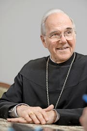 Abt Benno Malfèr im Professorenheim der Benediktinerpatres: «Was wir jetzt tun, wird nicht dadurch entwertet, dass es später einmal aufhören wird.» Bild: Corinne Glanzmann (Sarnen, 5. Oktober 2016)