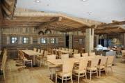 Blick ins neue Restaurant auf Trübsee. (Bild: Philipp Unterschütz)