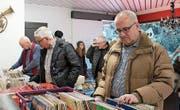 Musikfans können bei der Schallplattenbörse wieder nach Lust und Laune stöbern. (Bild: Markus Zwyssig (Altdorf, 14. Januar 2017))