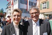 Ständerats-Vizepräsidentin Karin Keller und Nationalrat Karl Vogler.
