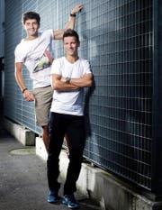 Haben eine vertrauensvolle Brüder-Beziehung: Nicholas (links) und sein jüngerer Bruder Tobias Walker. (Bild Stefan Kaiser)