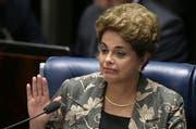 Brasiliens Präsidentin Dilma Rousseff wurde des Amtes enthoben. (Bild: Keystone/AP Photo)