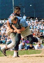 1995 gewann Josef Herger das Innerschweizerische Schwing- und Älplerfest in Schattdorf. (Bilder PD)