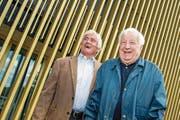 Zwei, die sich gut verstanden und viel gemeinsam lachten: Friedel Rausch (links) und Romano Simioni. (Bild: Philipp Schmidli (Luzern, 18. Mai 2014))