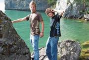 Sie machten auch als Models eine gute Figur: Andreas «Fin» Schuler (links) und Thomas Imholz. Bild: PD