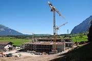 Das neue Gebäude der Kernser Edelpilz GmbH im Rossfang. (Bild Philipp Unterschütz)