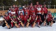 Das Nachwuchsteam des Skiclubs Schwendi-Langis. (Bild: Heinz Wolf)