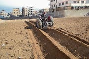 So wird Garten- und Ackerbau im bombardierten Syrien betrieben. Bild: PD