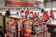 Das Eishockey Nationalteam der Frauen trainiert in Engelberg. (Bild: Nadia Schärli (Neue LZ) (Luzerner Zeitung))