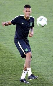 Grosser Druck auf schmalen Schultern: Brasiliens Neymar. (Bild: AP/Eraldo Peres)