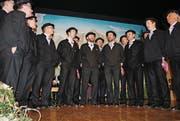 Die Gastgeber bei ihrem Auftritt. (Bild: Rosmarie Berlinger (Neue NZ) (Neue Nidwaldner Zeitung))