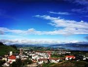 Das ist die Aussicht von der Villa aus. (Bild: Paris Hilton/Instagram)