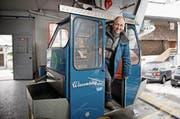 Paul Odermatt in der Talstation der Wiesenberg-Bahn in Dallenwil. (Bild: Corinne Glanzmann (Dallenwil, 19. Dezember 2017))