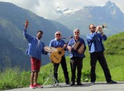 Das Quartett (von links): Phumulani Ntuli, Jakob Bardill, Reinhard Spörri, Philip Matesic. (Bild: Vimeo)