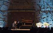 Der Pianist Igor Levit beim Eröffnungskonzert des Andermatt Swiss Alps Classics Festivals. (Bild: Keystone/Alexandra Wey (Andermatt, 25. Juni 2017))
