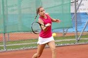 Gehört bereits einem nationalen Kader an: U-14-Juniorin Joëlle Lanz (TC Luzern Lido). (Bild Brigit Fischer)