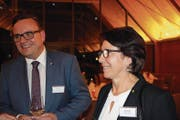 Barbara Bär und Roger Nager an der Nacht der Präsidenten und Amtsträger. (Bild: bar (Seedorf, 1. Februar 2018))