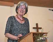Felicitas Schweizer, Präsidentin der Evangelisch-reformierten Landeskirche Uri, warnt vor einer Beschlussunfähigkeit des Kirchenrats. (Bild: Urs Hanhart (Erstfeld, 15. Mai 2017))