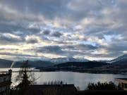 Blick vom Villenviertel auf das Luzerner Seebecken und die Berge. (Bild: Lena Berger / LZ (Luzern, 2. Februar 2018))