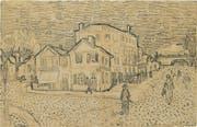 Skizze des «La Maison de Vincent, Arles» von Vincent Van Gogh. (Bild: AP)