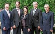 Von links: Daniel Grunder, Gerhard Dammann, Christina Brunnschweiler, Paul Lalli, Alphons Beat Schnyder. (Bild: PD)
