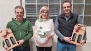Sie wurden verabschiedet (von links): Daniel Epp, Myrta Huser und Arvid Arnold. (Bild: PD (Attinghausen, 27. November 2017))
