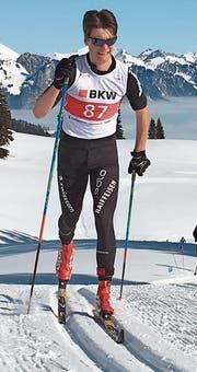 Der Eigenthaler Cyril Fähndrich auf dem Weg zum zweiten Rang über 10 Kilometer klassisch. (Bild: Edi Zilmann (Zweisimmen, 24. Februar 2018))