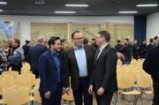 Präsident Herbert Würsch (Mitte) mit den neuen Vorstandsmitgliedern Andreas Christen (links) und Hans Bühlmann. (Bild: Martin Uebelhart (Stans, 1. März 2018))