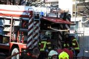 Die Feuerwehr steht in Pfäffikon im Einsatz. Im Bild: Die Feuerwehr in Nidwalden. (Bild: Markus von Rotz (Symbolbild))